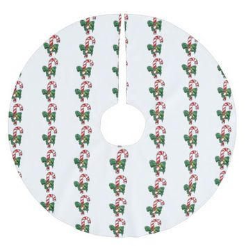 Candy Cane Brushed Polyester Tree Skirt