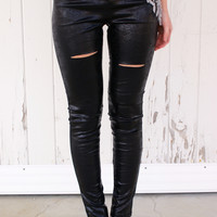 Cutting Edge Leggings: Black