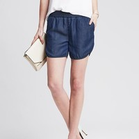 Drapey Chambray Short