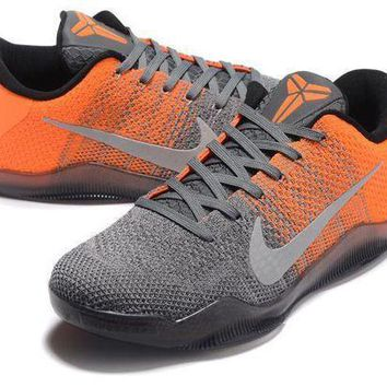 PEAPGE2 Beauty Ticks Nike Kobe Xi Elite Gray/orange Basketball Trainers Size Us7-12