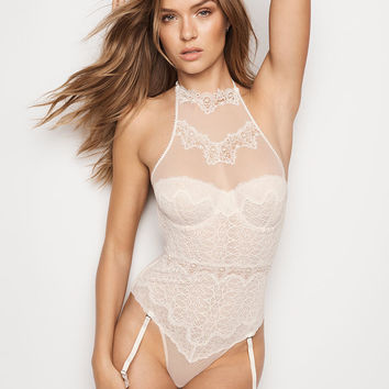 Chantilly Lace High-neck Teddy - Dream Angels - Victoria's Secret
