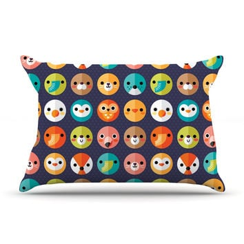 "Daisy Beatrice ""Smiley Faces Repeat"" Animal Pattern Pillow Sham"