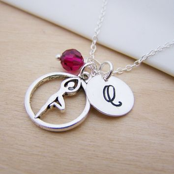 Yoga Pose Charm - Personalized Sterling Silver Necklace