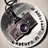 """Taylor Swift inspired necklace- """"Capture It, Remember It"""""""