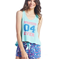 Whatever 4 Ever Floral Pajama Set | Wet Seal