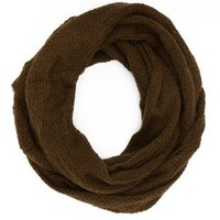 Olive Sweater Knit Cowl Scarf by Charlotte Russe