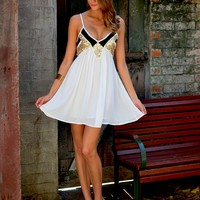 HARLEQUIN DRESS (WHT)