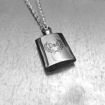 Cremation Necklace, Fathers Urn, Dad Urn, Ashes Holder Necklace, Cremation Locket, Memory Locket, Cremation Jewelry