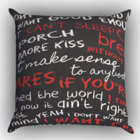 Hunter Hayes I Want Crazy Zippered Pillows  Covers 16x16, 18x18, 20x20 Inches
