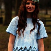 Light blue tie dye T shirt. from Dizzy Rose