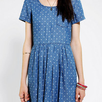Urban Outfitters - BDG Printed Chambray Babydoll Dress