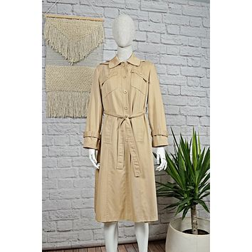 Vintage Classic Hooded Trench Coat