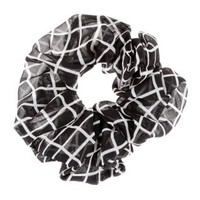 Black and White Oversized Scrunchie