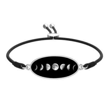 Moon Phases Charm with Liv Cord Slider Bracelet