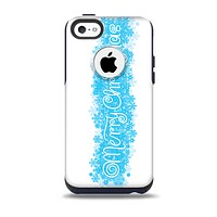 Blue Merry Christmas Skin for the iPhone 5c OtterBox Commuter Case