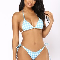 Go With The Flow Bikini - Blue