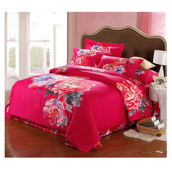 Cotton Active floral printing Quilt Duvet Sheet Cover Sets 2.0M/2.2M Bed Size 62