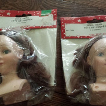 "Vintage Fibre Craft 4"" Doll Heads"