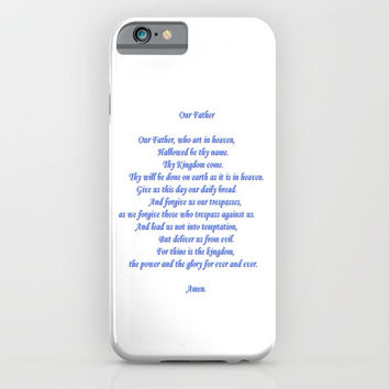 Our Father iPhone & iPod Case by Zia