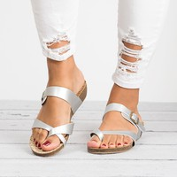 Bahamas Wedge Sandals - Silver