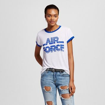 Women's Air Force Graphic Ringer Tee- Mighty Fine™