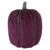 Halloween Hand-Wrapped Fabric Pumpkin Large Burgundy - Hyde and Eek! Boutique™