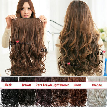 Best black human hair extensions clip in products on wanelo clip in hair extensions sexy long curly human hair extensions synthetic wig 1932071556 pmusecretfo Image collections