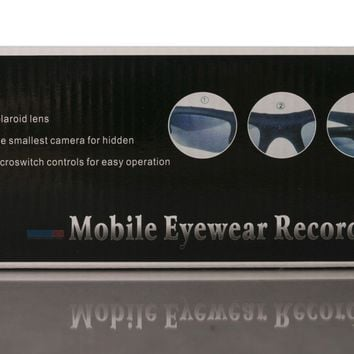 Digital Video Recorder Sunglasses w/ MicroSD Slot Easy Storage