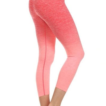 Yoga Capri Pants - Coral