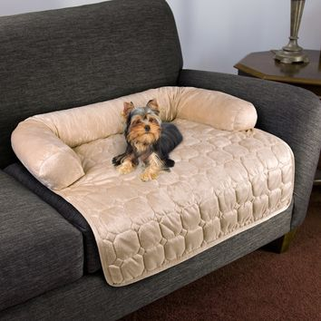 Furniture Protector Pet Cover with Shredded Memory Foam filled 3-Sided Bolster Pet Bed | Overstock.com Shopping - The Best Deals on Other Pet Beds