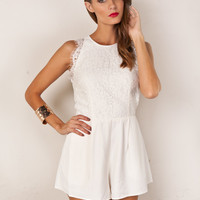 ALMOST OVER PLAYSUIT KEEPSAKE (WH)