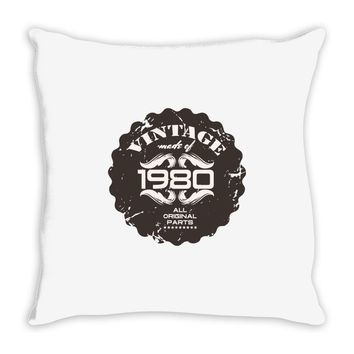 vintage made of 1980 all original parts Throw Pillow