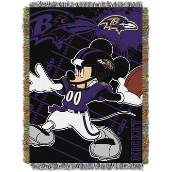 Baltimore Ravens NFL Mickey Tapestry Throw (48inx60in)
