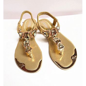 Women hot fashion Rhinestone Sandals shoes