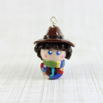 Doctor Who inspired Fourth Doctor chibi charm