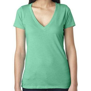 Yoga Clothing for You Womens Lightweight Deep V-neck Tee Shirt
