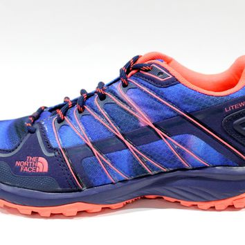 The North Face Women's LiteWave Explore Blue Hiking Shoes