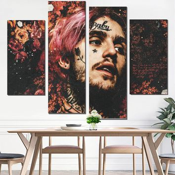 canvas painting lil peep painting canvas wall poster wall painting art print custom print decorative pictures tableau giclee pop