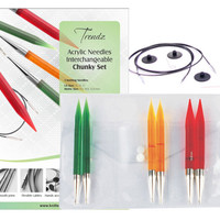 Knitter's Pride Spectra Trendz Acrylic chunky interchangeable knitting needle set