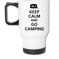 keep calm and go camping - Travel Mug