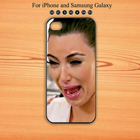 Kim Kardashian,Cry,iPhone 5 case,iPhone 5C Case,iPhone 5S Case, Phone case,iPhone 4 Case, iPhone 4S Case,Galaxy Samsung S3, S4