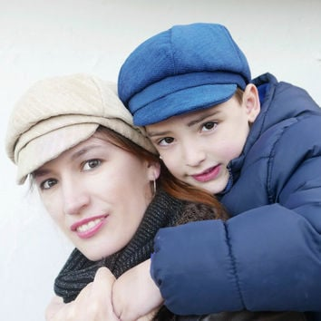 Newsboy cap pattern for Kids and Adults , unisex cap , INSTANT DOWNLOAD, Gatsby cap pattern, sizes 6 months up to XL (adult),