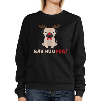 Bah Humpug Sweatshirt Cute Christmas Pullover Fleece For Pug Owner