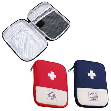 Small supervivencia Pouch First Aid Emergency Medical Bag Camping Outdoor Survival Kit Medicine Drug Pill Box Home Storage Case