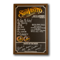 Man Cave Blackboard - Suavecito Pomade | Hair Pomade | Barber Products