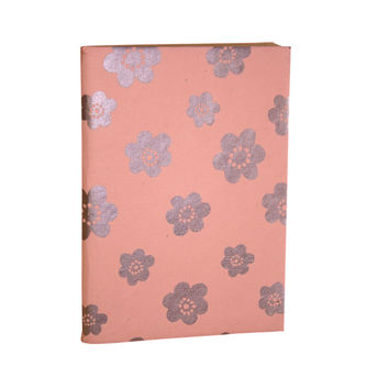 Peach Flower Soft Journal Recycled Cotton Fabric Pages