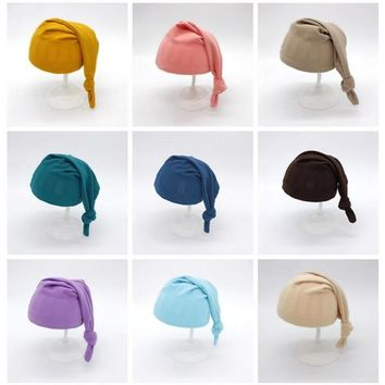 Newborn Photography Accessories Baby Sleeping Knot Hat Soft Comfortable Baby Photo Props Infant Shooting Outfits Baby Picture