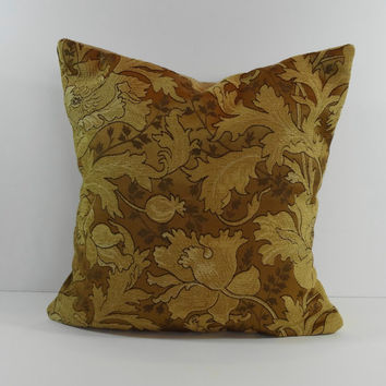 Designer Pillow Cover, Camel, Brown, Gold, 16 x 16, Throw Decorative Cushion Cover, Stout Brothers