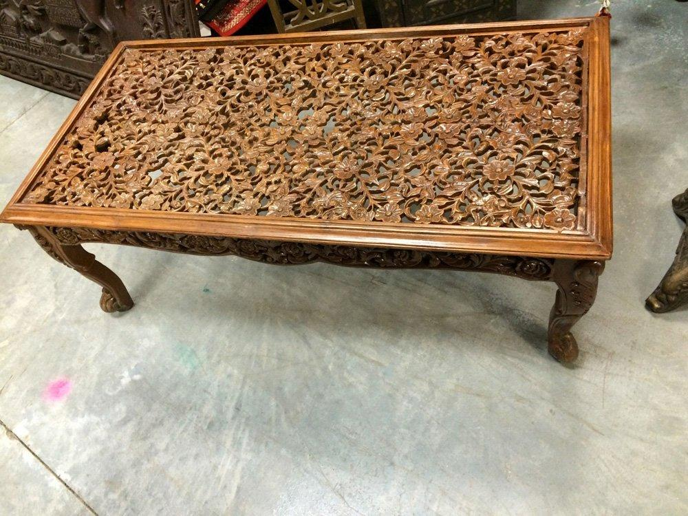 Antique Coffee Table Floral Lattice Hand From Amazon Antique