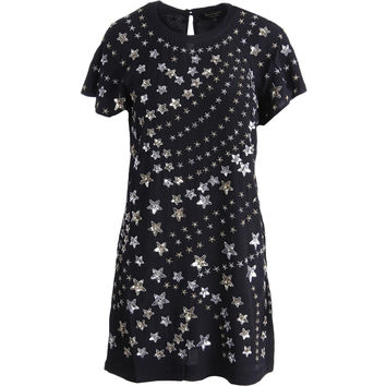 Juicy Couture Black Label Womens Star Embroidered Party Dress